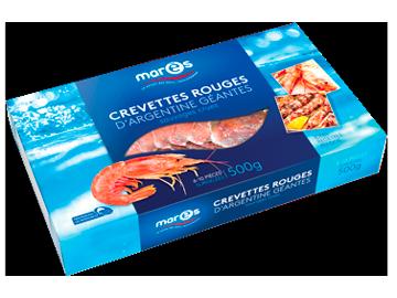 Crevettes rouges d'Argentine géantes sauvages crues