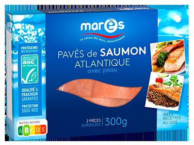 3760282770127 Pavés de saumon Atlantique avec peau ASC 300g