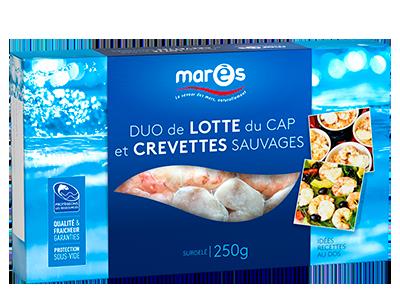 3760282770196 Duo de lotte du Cap et crevettes sauvages 250g