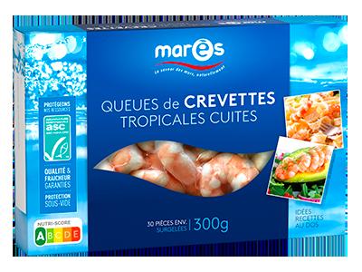 3760282770394 Queues de crevettes tropicales cuites ASC 300g