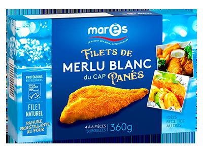 3760282770400 Filets de merlu blanc du Cap panés MSC 360g