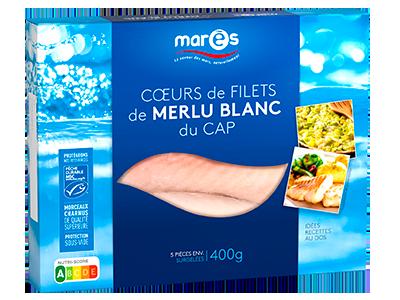 3760282770479 Coeurs de filets de merlu blanc du Cap MSC 400g